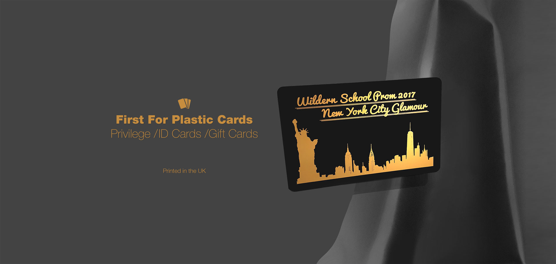 Matt Black Plastic Cards - Our matt black plastic cards are all printed in the UK. Easy ordering and Fast turnaround.