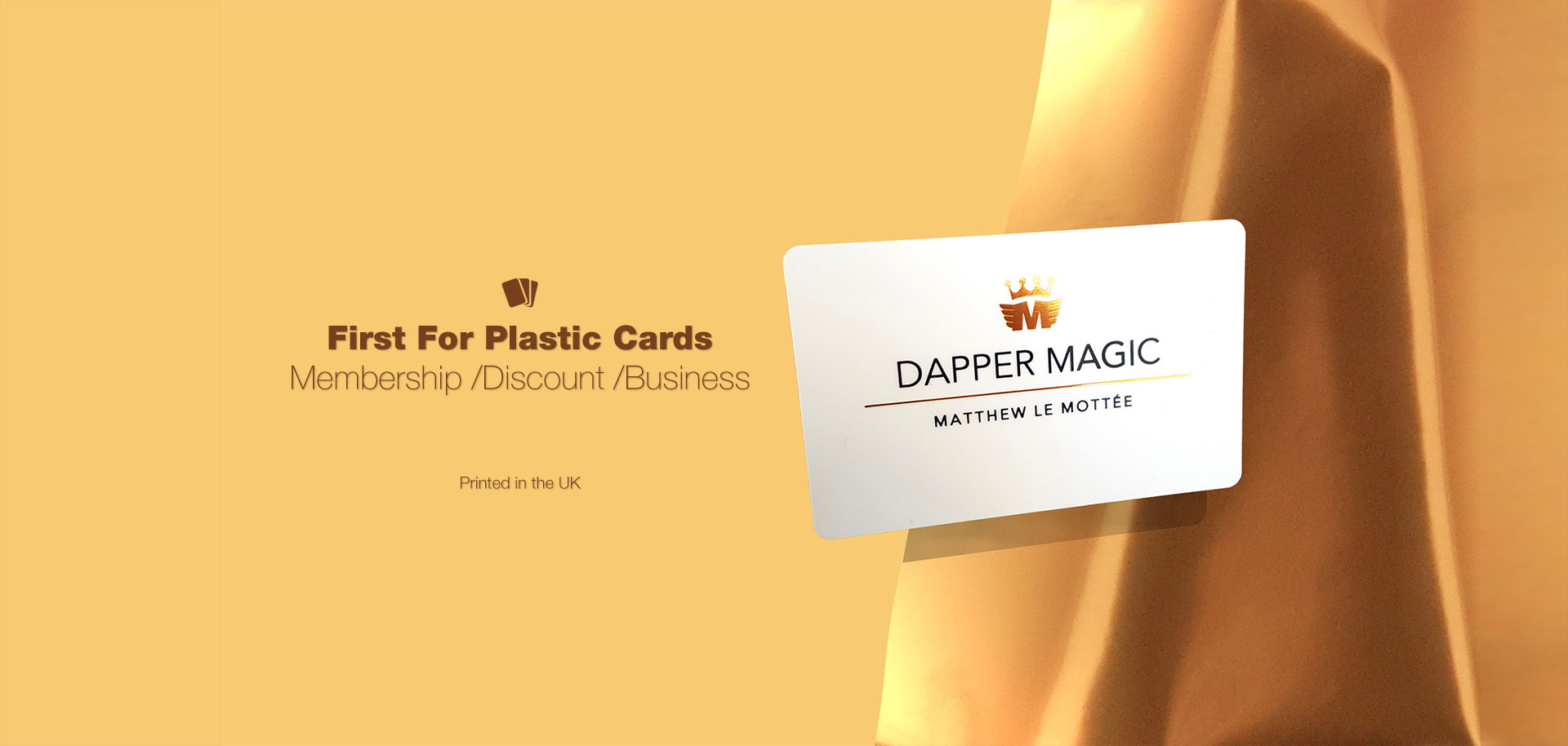 Plastic Cards - Our plastic cards are all printed in the UK. Easy ordering and Fast turnaround.