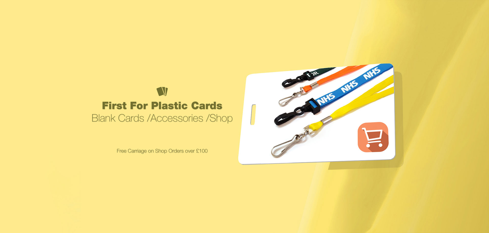 Blank Plastic Cards and Accessories Shop - Free Carriage on Shop Orders over £100