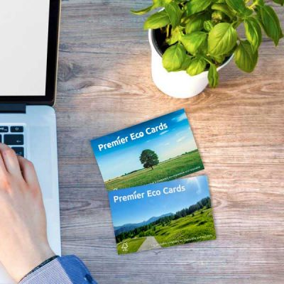 Eco degradable plastic cards from Premier Eco Cards business cards id cards membership cards