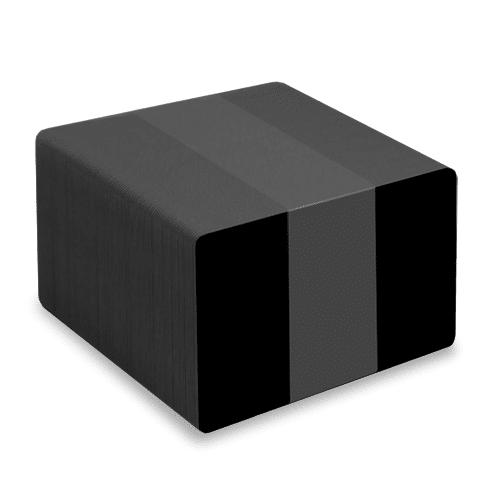 Blank Gloss Black Plastic Cards