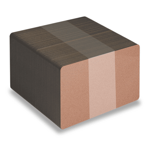 Blank Metallic Bronze Plastic Cards