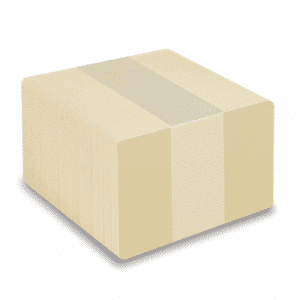 Blank Tan Plastic Cards