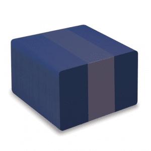 Blank Dark Blue Plastic Cards