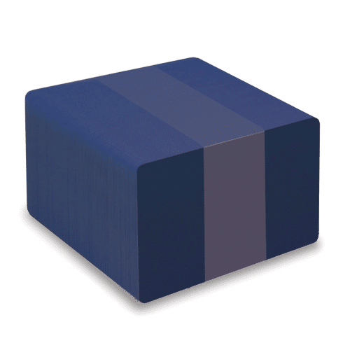 Blank Dark Blue Plastic Cards