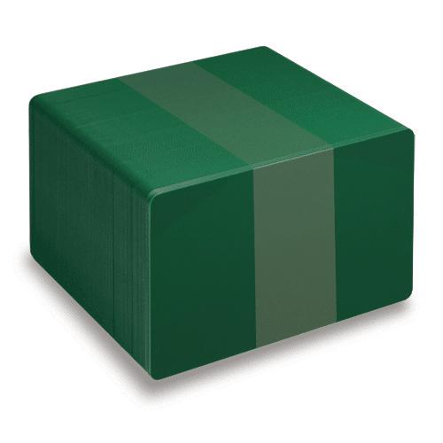Blank Dark Green Plastic Cards