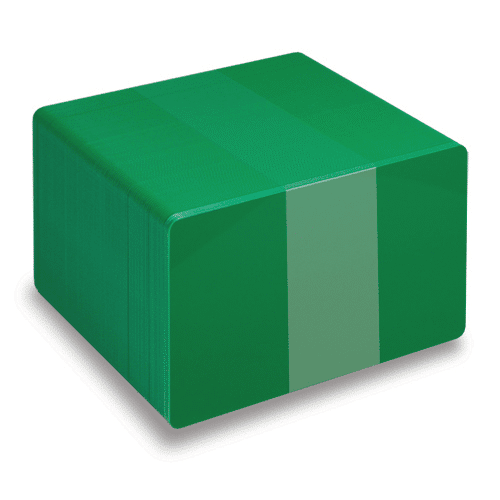 Blank Green Plastic Cards