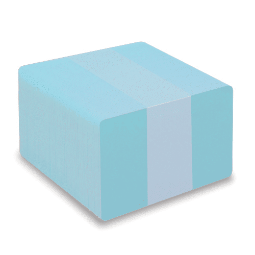 Blank Light Blue Plastic Cards