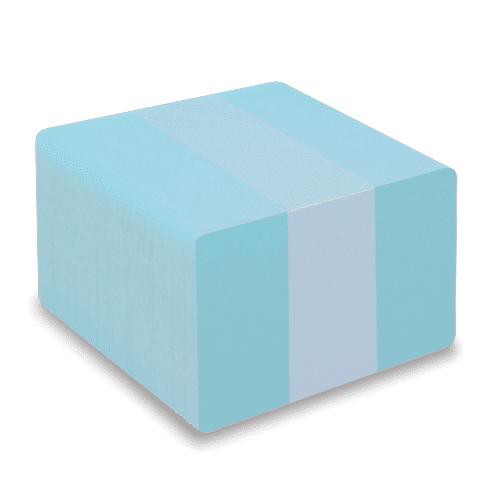Blank Light Blue Plastic Cards