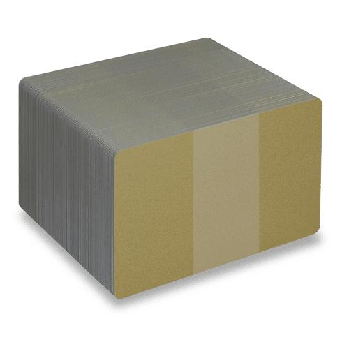 Blank Metallic Gold Plastic Cards