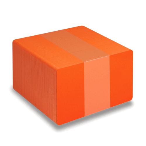 Blank Orange Plastic Cards