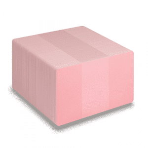 Blank Pink Plastic Cards