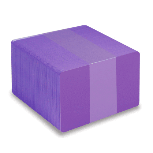 Blank Purple Plastic Cards