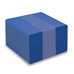 Blank Mid Blue Plastic Cards