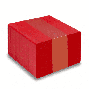 Blank Red Plastic Cards