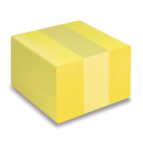 Blank Yellow Plastic Cards