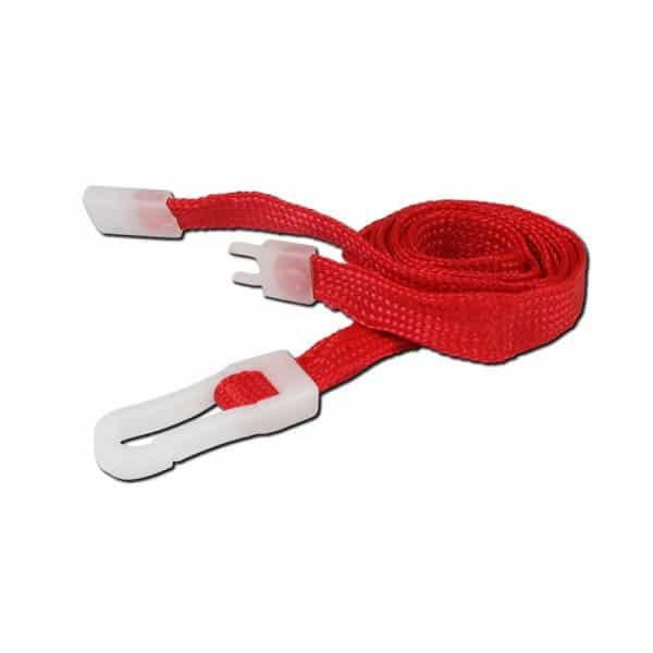 Red Breakaway Lanyards with Plastic Clip