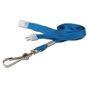 Blue Breakaway Lanyards with Metal Clip