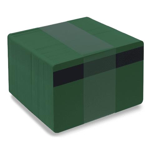 Blank LoCo Dark Green Plastic Cards
