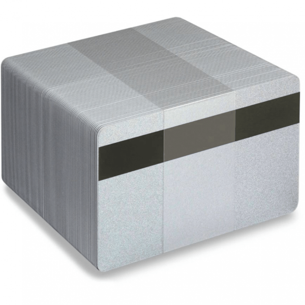 Blank LoCo Silver Plastic Cards