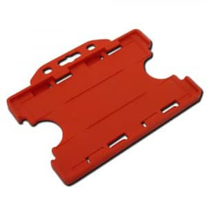 Red Double Sided Card Holders