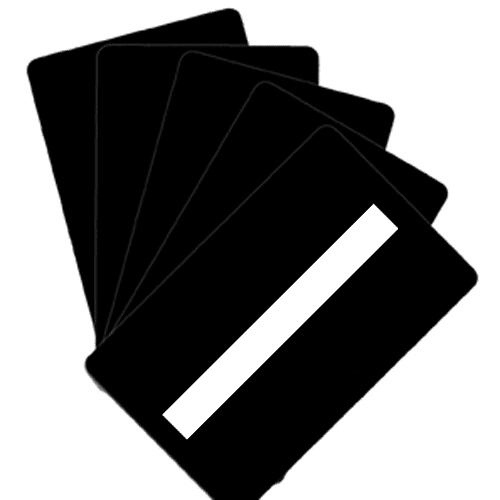 Blank Matt Black Plastic Cards With Signature Panel