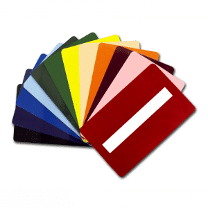 Blank Colour Plastic Cards With Signature Panel