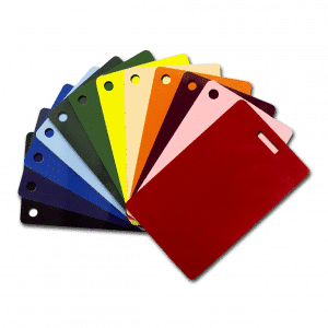 Blank Colour Plastic Cards With Slot Or Hole Punch