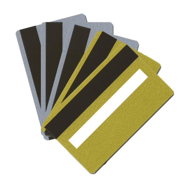 Blank LoCo Metallic Plastic Cards With Signature Panel