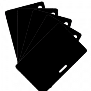Blank Matt Black Plastic Cards With Slot Or Hole Punch