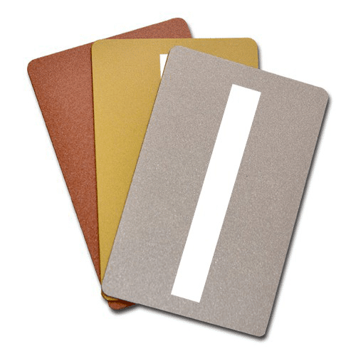 Blank Metallic Plastic Cards With Signature Panel