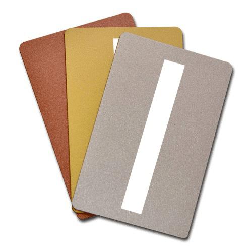 Blank Metallic Plastic Cards With Signature Panel
