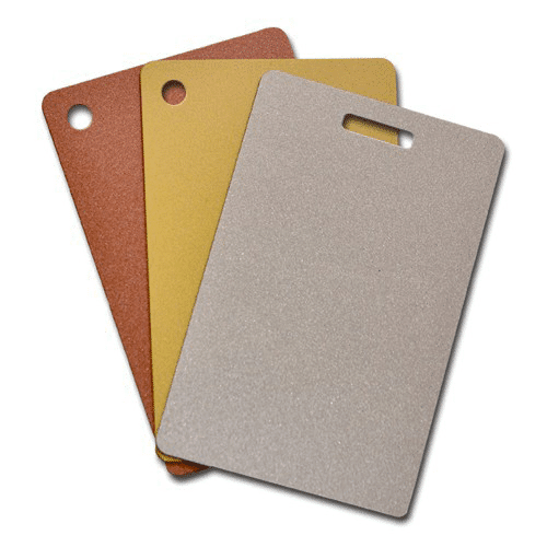 Blank Metallic Plastic Cards With Slot Or Hole Punch