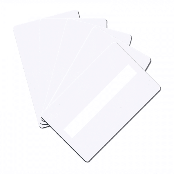 Blank White Plastic Cards With Signature Panel