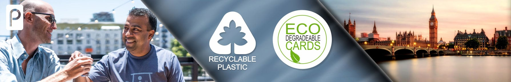Business Cards eco friendly and recyclable from Premier Plastic cards