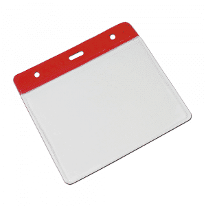 Red Vinyl Card Holders