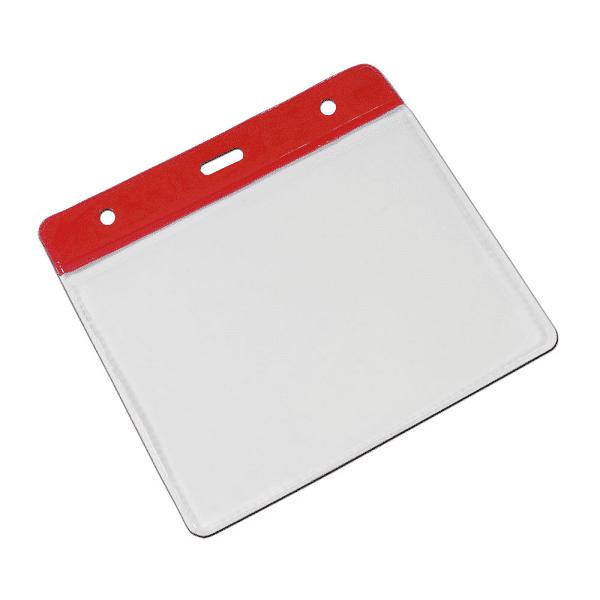 Red Vinyl Card Holders