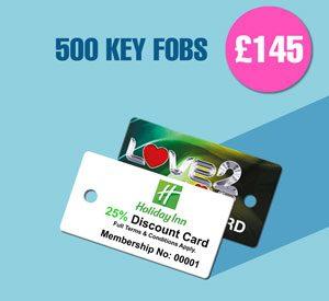 500 Key Fobs at £145