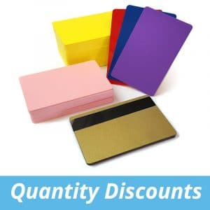 Blank Coloured Plastic Cards
