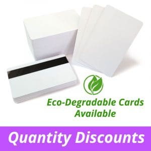Blank White Plastic Cards