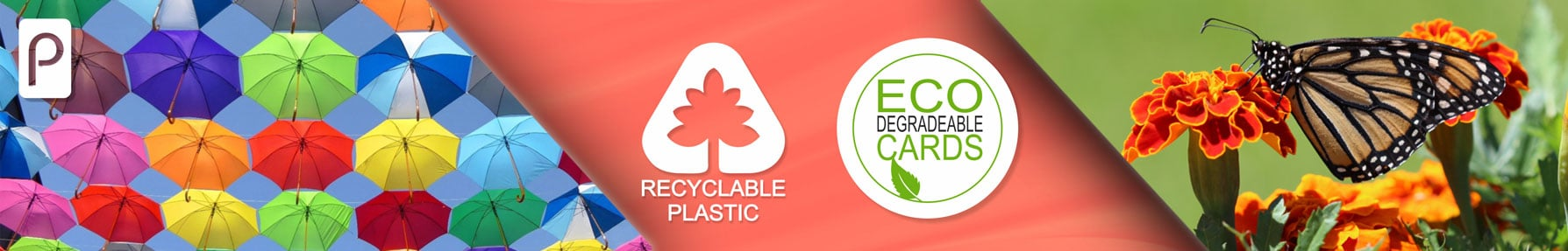 Eco friendly and recyclable full colour plastic cards from Premier Plastic cards