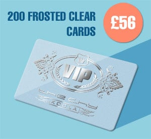 200 Frosted clear for £56