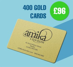 400 Gold plastic cards for £96