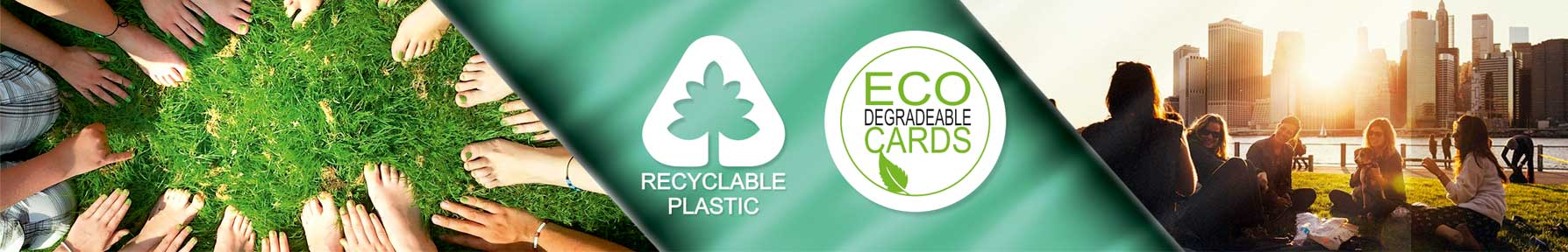 Plastic membership cards eco friendly and recyclable from Premier Eco Cards
