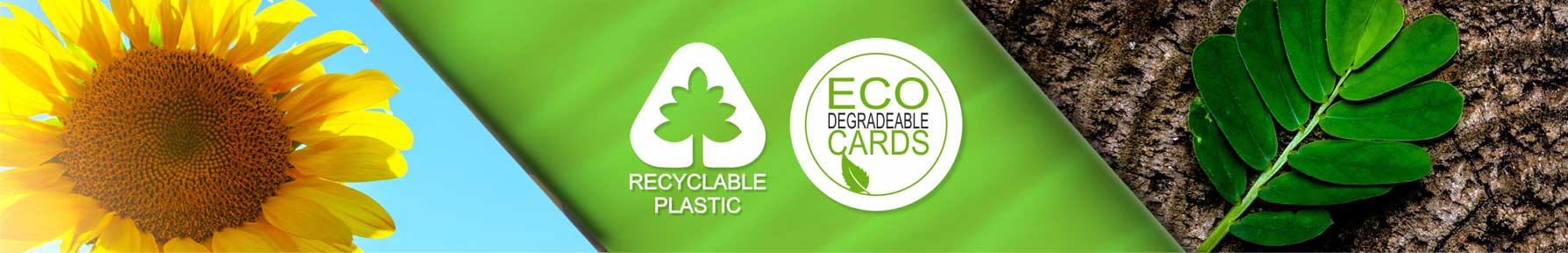 Premier eco cards plastic card examples