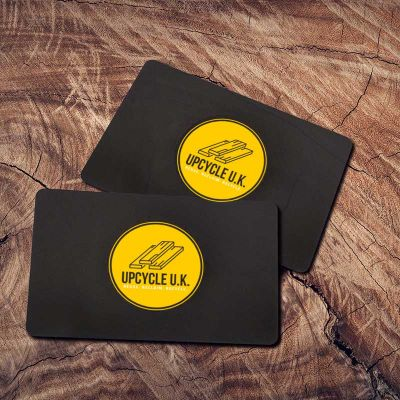 Matt Black Plastic Cards from Premier Eco Cards