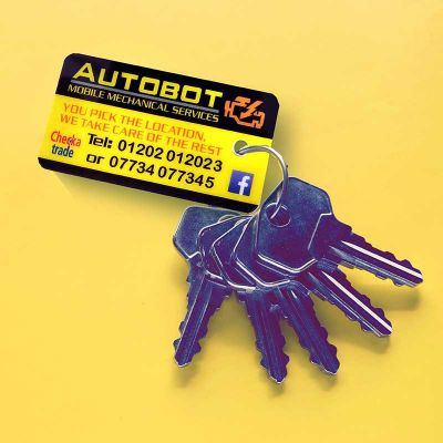 Branded Key Ring Cards from Premier Eco Cards